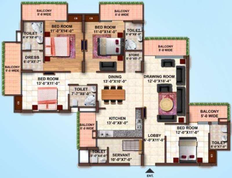 Samiah Green View Apartment (4BHK+4T (2,495 sq ft) 2495 sq ft)