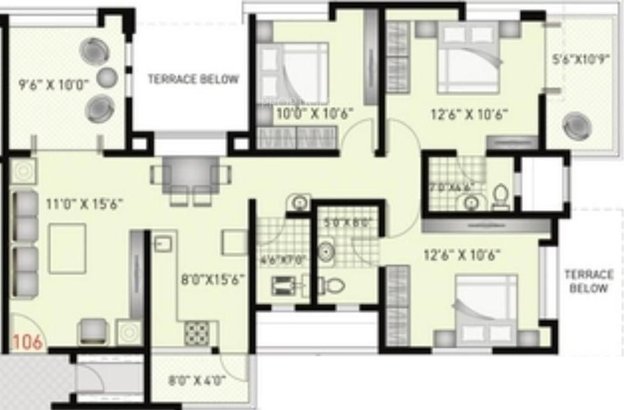 1300 Sq Ft 3 Bhk 3t Apartment For Sale In Jain Ashapuri