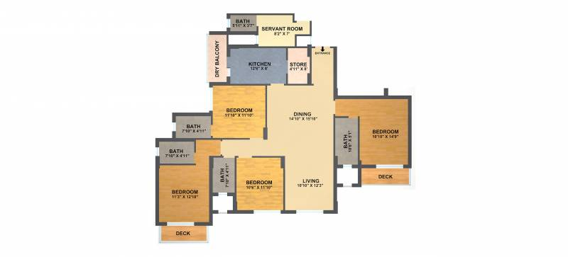 DLF New Town Heights (4BHK+4T (2,429 sq ft) 2429 sq ft)
