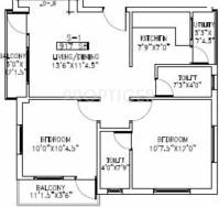 Compare Shriram Srishti Apartments Vs Alliance Group: 250 square foot apartment floor plan