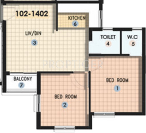 650 Sq Ft 2 Bhk Floor Plan Image Shapoorji Pallonji Real