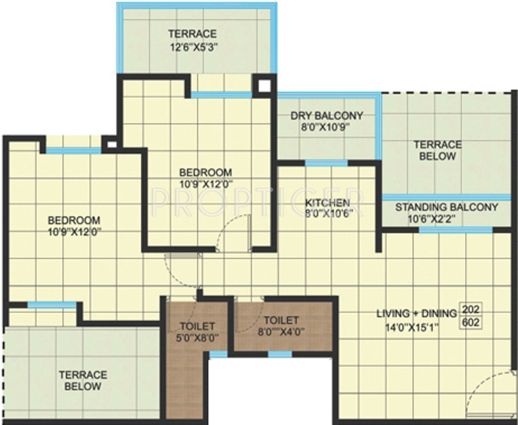 950 Sq Ft 2 Bhk 2t Apartment For Sale In Saigal Homes