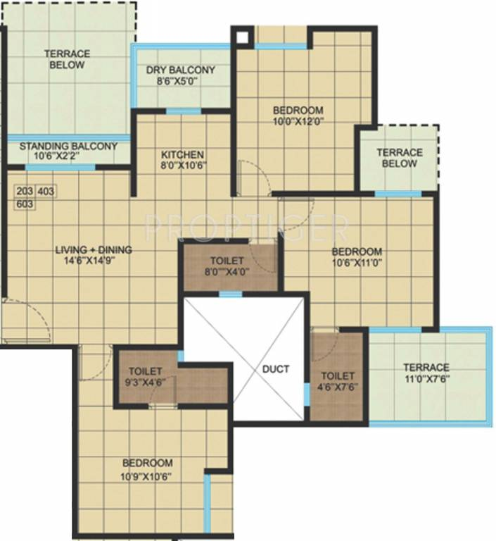 1400 sq ft 3 bhk 3t apartment for sale in saigal homes for 1400 sq ft floor plans