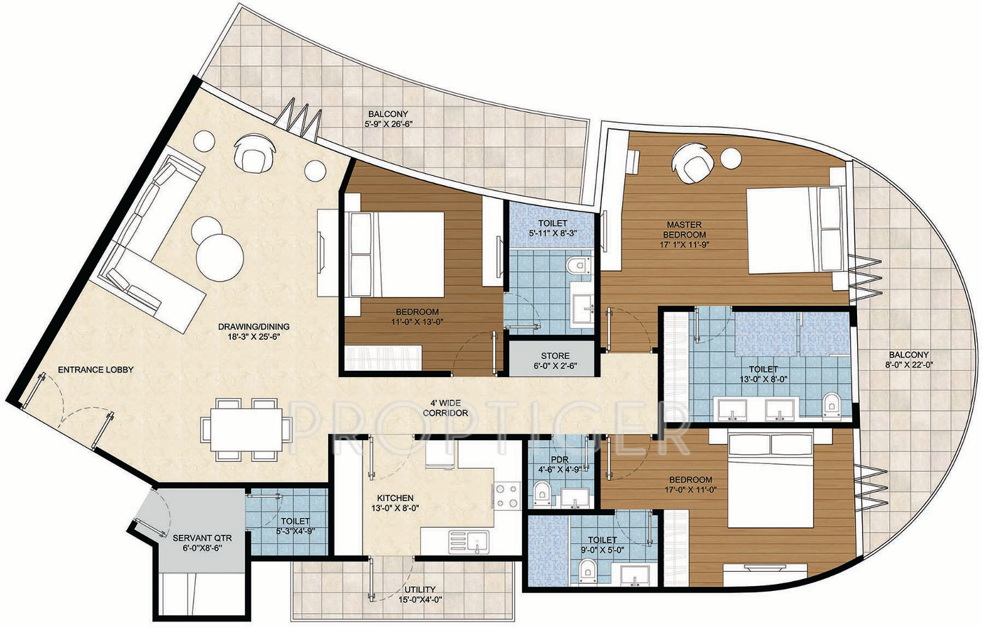 2500 sq ft 3 bhk 3t apartment for sale in homestead india ballet