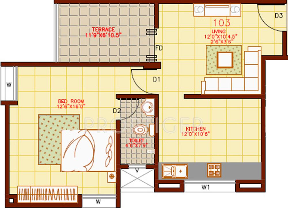 640 Sq Ft 1 Bhk 1t Apartment For Sale In Ravetkar Om