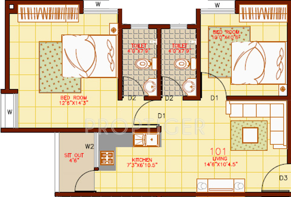 850 sq ft floor plan contemporary style house plan 2 850 sq ft