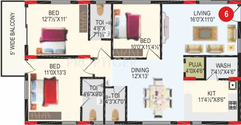 RV Bhaiji Panchajanya (3BHK+3T (1,750 sq ft)   Pooja Room 1750 sq ft)