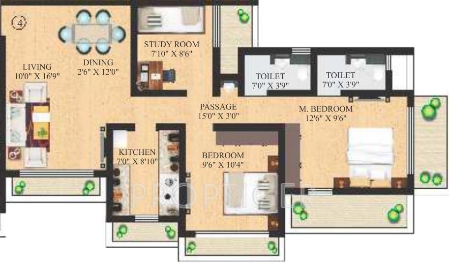 1125 sq ft 2 bhk 2t apartment for sale in neminath luxeria for 1125 sq ft floor plan