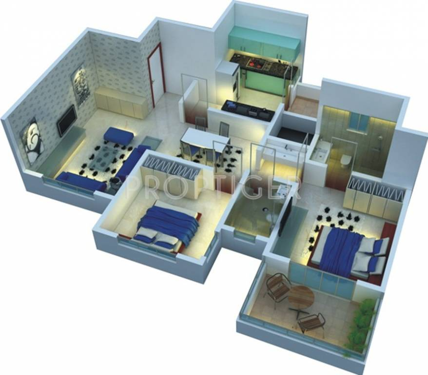 968 sq ft 2 bhk 2t apartments in nsg group the royal for 950 sq ft house plans