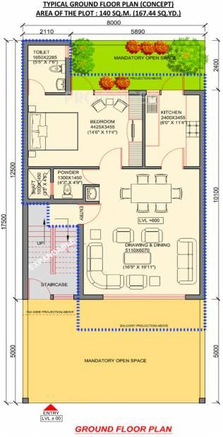 Jaypee Villa Expanza Green Crest Homes (4BHK+4T (1,506 sq ft)   Study Room 1506 sq ft)