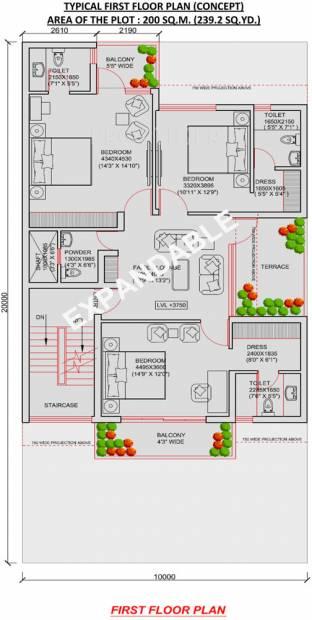 Jaypee Villa Expanza Green Crest Homes (6BHK+6T (2,152 sq ft) 2152 sq ft)