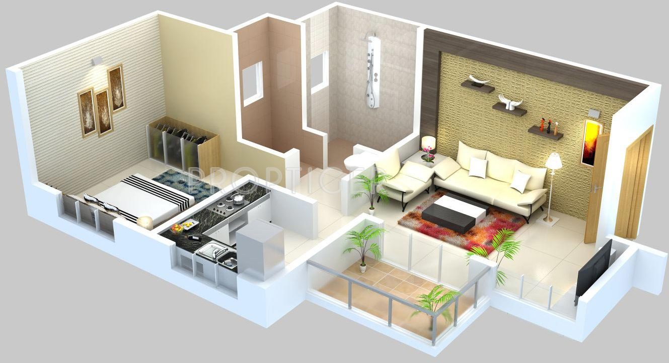 640 Sq Ft 1 Bhk 1t Apartment For Sale In Vijayalaxmi Group