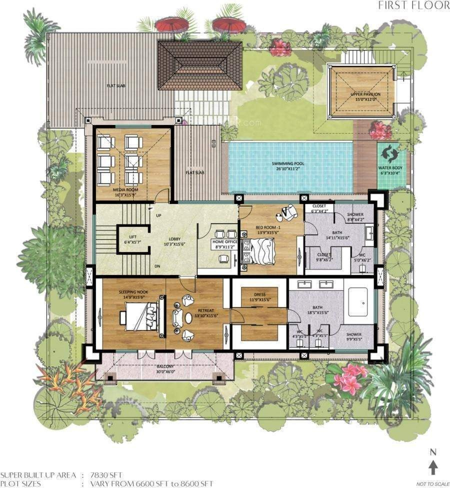 Balinese style house floor plans for Balinese house plans