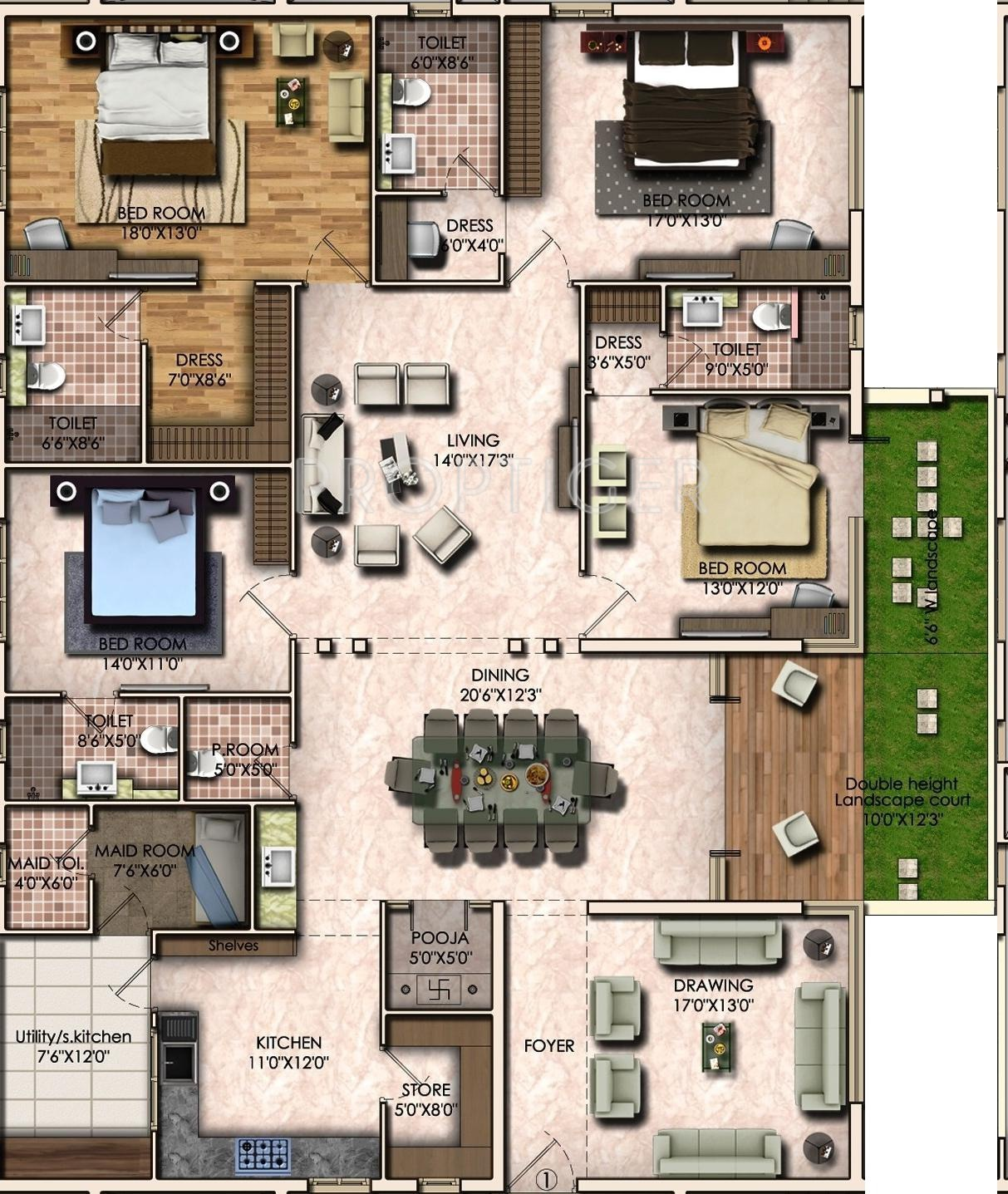 3400 sq ft 4 bhk floor plan 4bhk 4t 3400 sq ft image for 3400 square feet house plan
