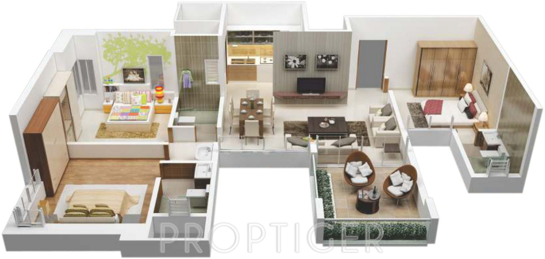 1400 sq ft house plans 3d for Cost to build a 1400 sq ft house