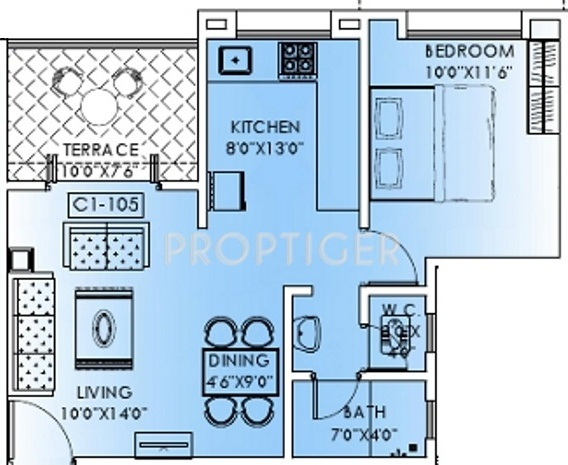 750 Sq Ft 1 Bhk 1t Apartment For Sale In Sonigara Homes
