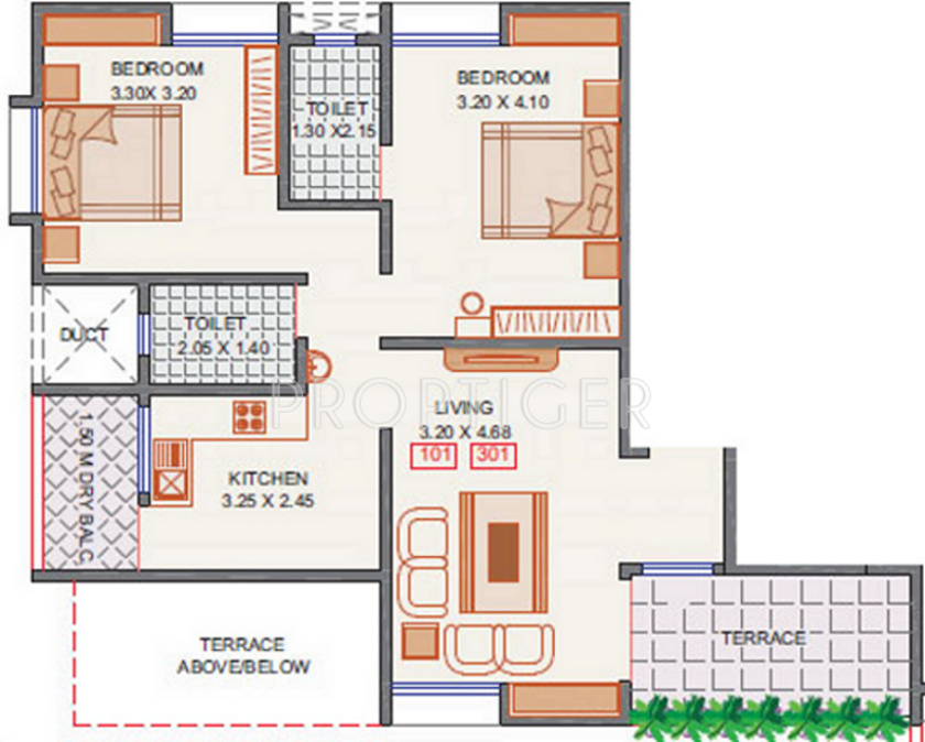 1000 sq ft 2 bhk 2t apartment for sale in arun sheth anika for 1000 sq ft apartment plans