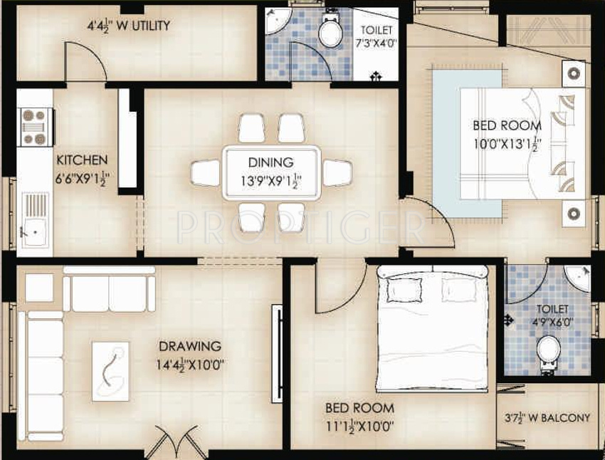 990 sq ft 2 bhk 2t apartment for sale in vintcs nerella for X2 residency floor plan