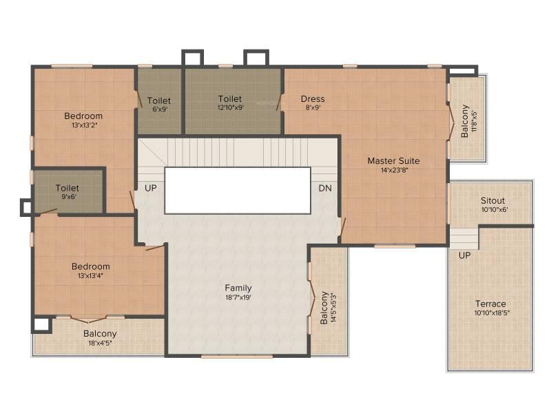 Prestige Silver Springs (4BHK+4T (6,023 sq ft) + Study Room 6023 sq ft)