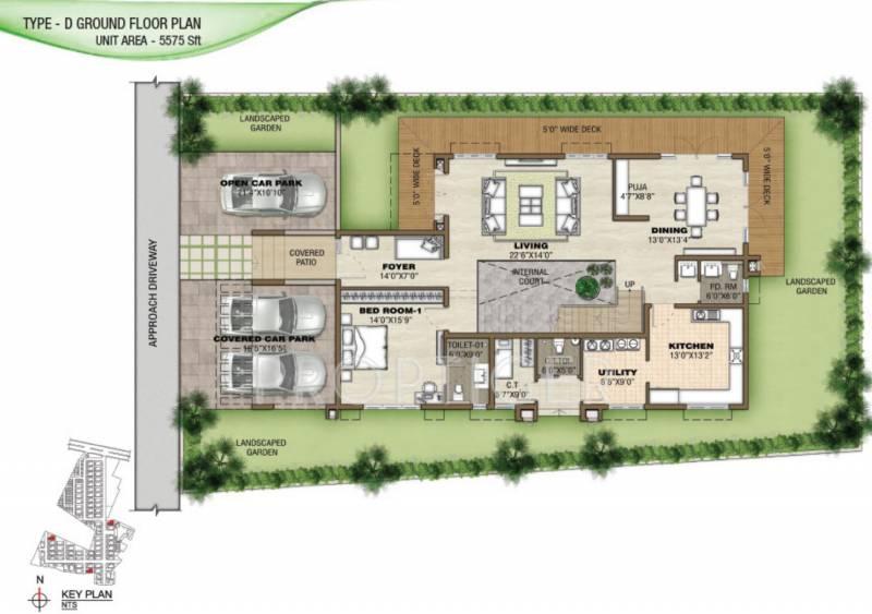 Prestige Silver Springs (4BHK+6T (5,575 sq ft) + Servant Room 5575 sq ft)