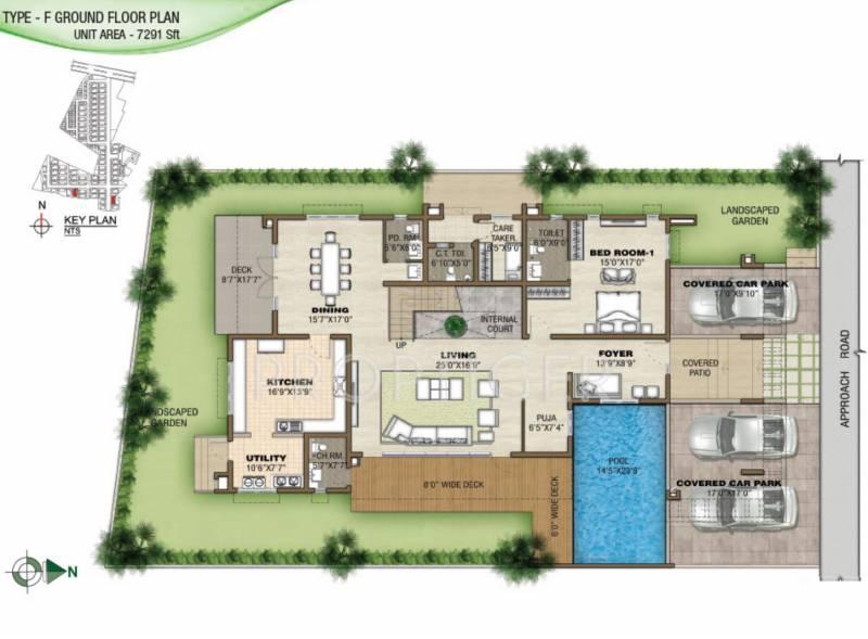 Prestige Silver Springs (4BHK+7T (7,291 sq ft) + Study Room 7291 sq ft)