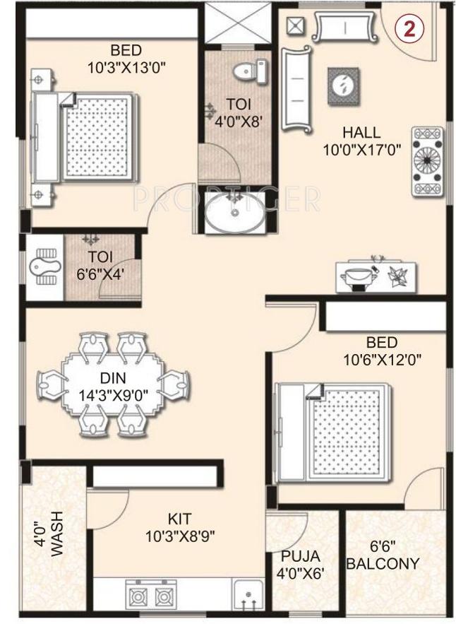 Umas arha mansion in pragathi nagar kukatpally hyderabad for 1125 sq ft floor plan