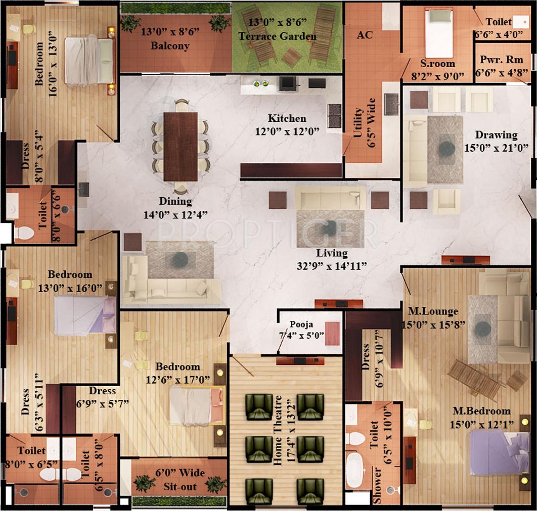my home navadweepa floor plans