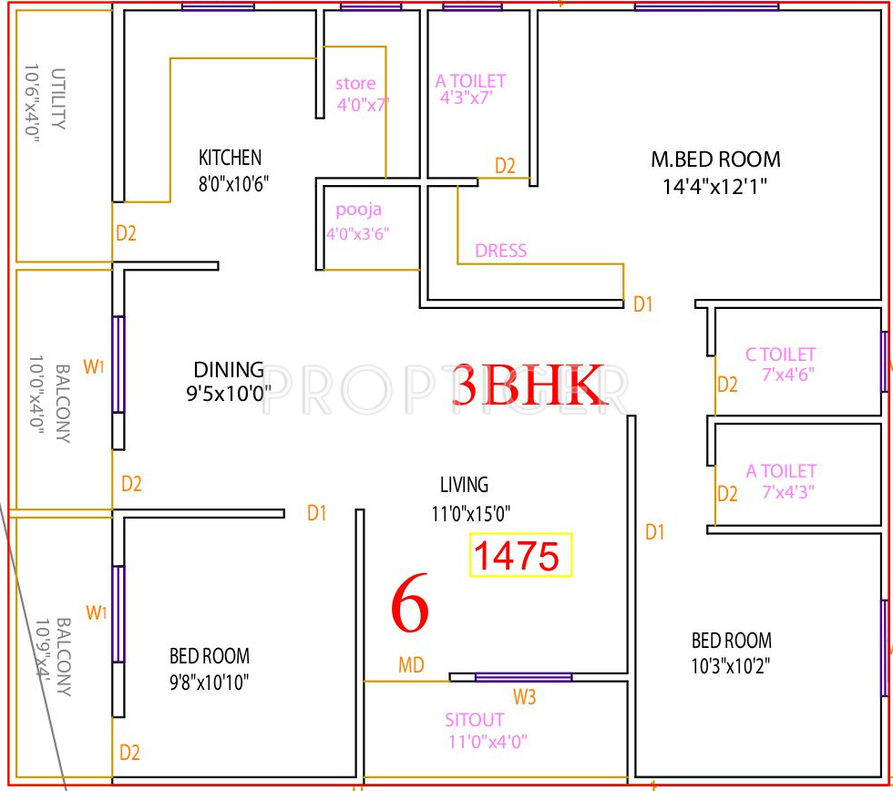 3bhk house plan as per vastu - house interior