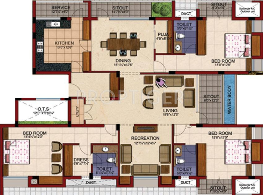 Tvh battika in alwarpet chennai price location map for Plan of 3bhk house