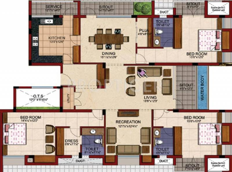 3000 Sq Ft 3 Bhk Floor Plan Image Tvh Battika Available