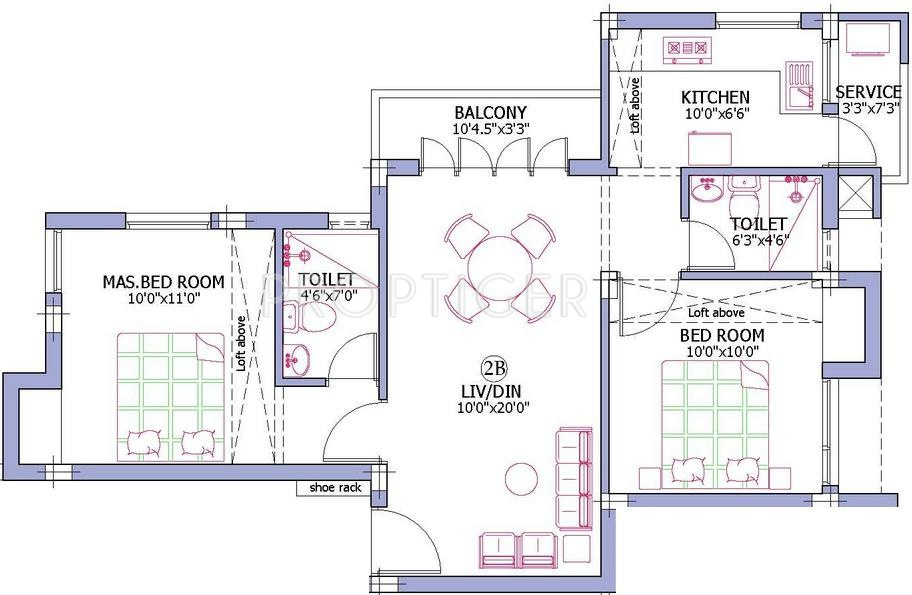 925 Sq Ft 2 Bhk 2t Apartment For Sale In Firm Alora