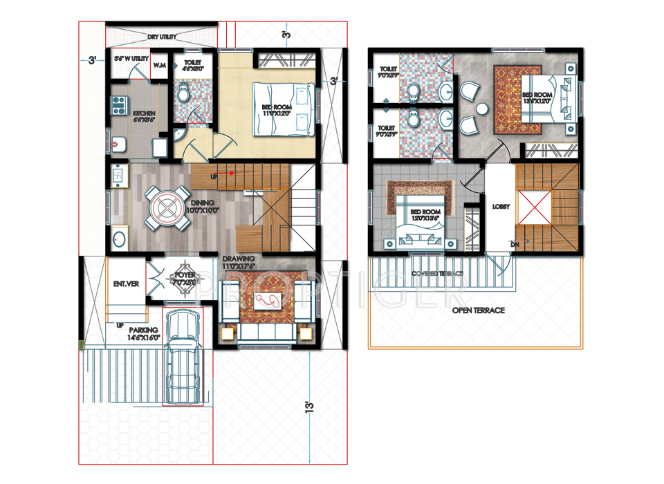 1580 sq ft 3 bhk 3t villa for sale in sai srushti sangamam for 25x50 house plan