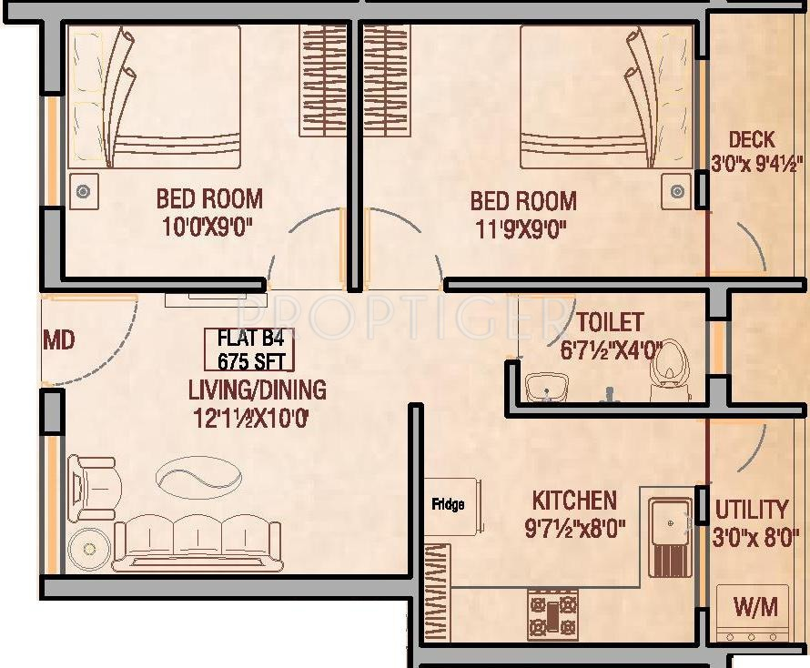 675 sq ft 2 bhk 1t apartment for sale in oyester homes for 675 sq ft floor plan