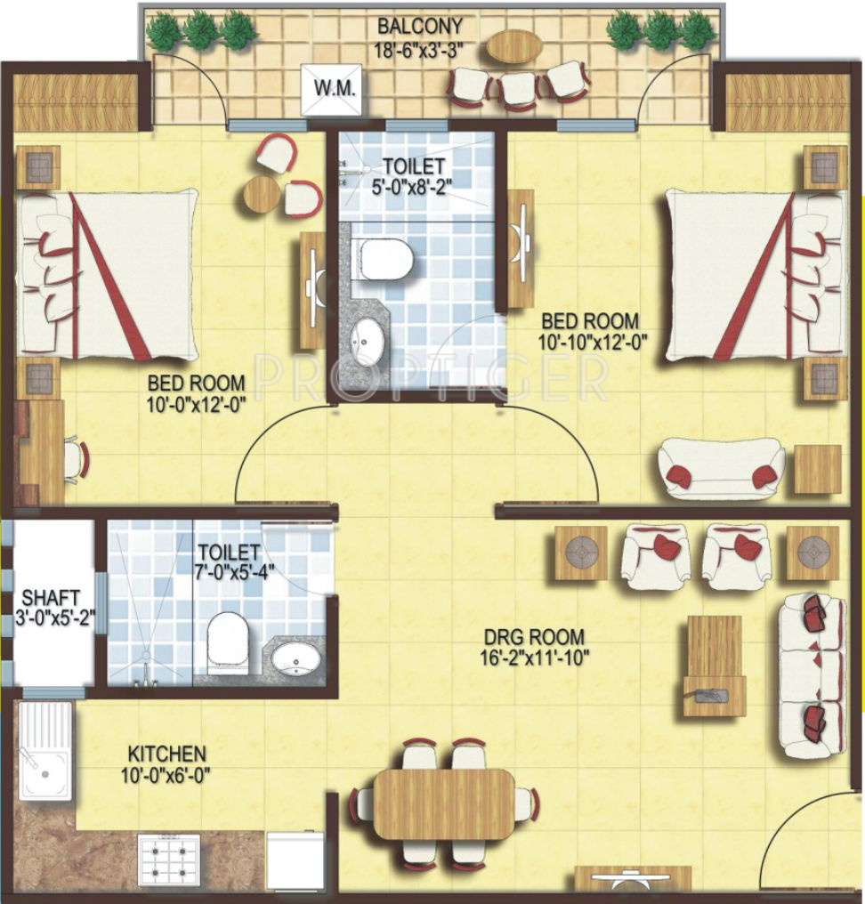 900 sq ft 2 bhk 2t apartment for sale in hba for Plan of a flat