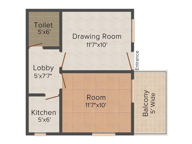 AKH Khatu Shyam Complex (1BHK+1T (433 sq ft) 433 sq ft)