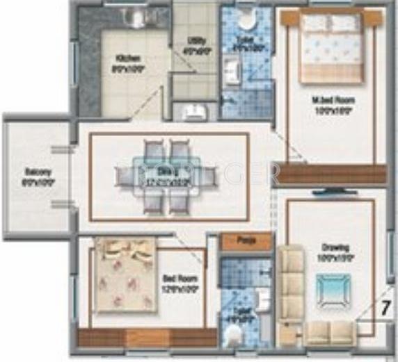 Aditya Imperial Heights In Kukatpally Hyderabad Price Location Map Floor Plan Reviews Proptiger Com