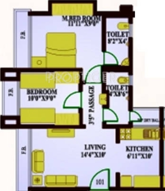 900 Sq Ft 2 Bhk 2t Apartment For Sale In Versatile Omkar
