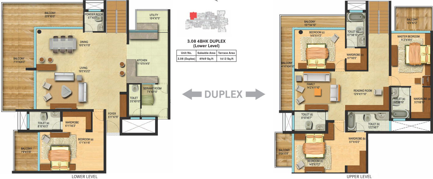 4969 sq ft 4 bhk 5t apartment for sale in century real 5 bhk duplex floor plan