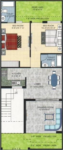 Pushpanjali Kings Street (2BHK+2T (1,100 sq ft) 1100 sq ft)