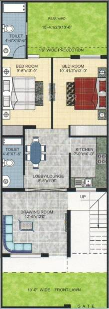 Pushpanjali Kings Street (2BHK+2T (1,250 sq ft) 1250 sq ft)