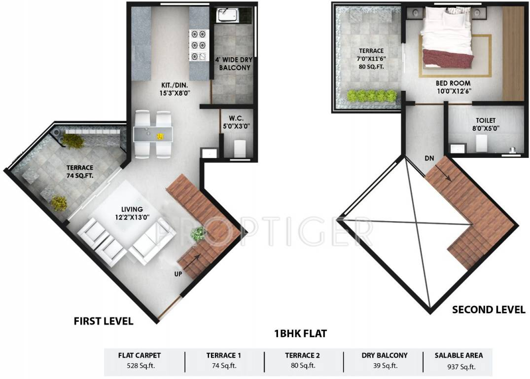 937 Sq Ft 1 Bhk 1t Apartment For Sale In Prithvi Edifice