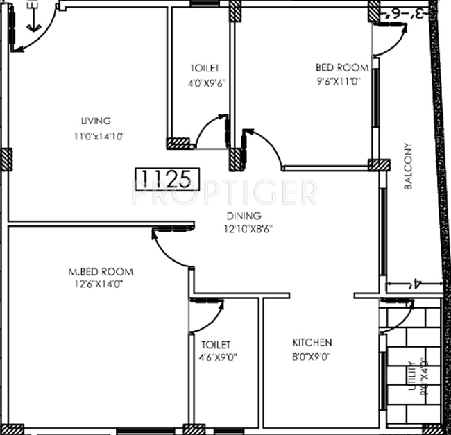 1125 sq ft 2 bhk 2t apartment for sale in eternity for 1125 sq ft floor plan