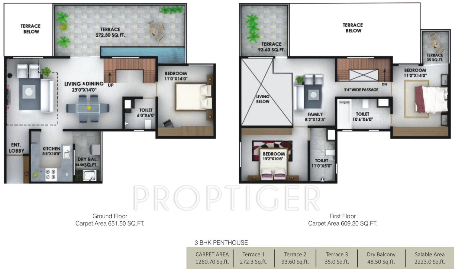 2223 sq ft 3 bhk 3t apartment for sale in prithvi edifice 5 bhk duplex floor plan