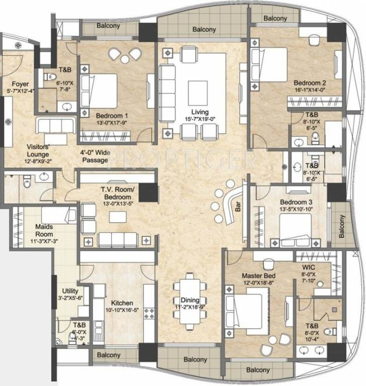 7000 sq ft 5 bhk 5t apartment for sale in the phoenix for Floor plans 7000 sq ft