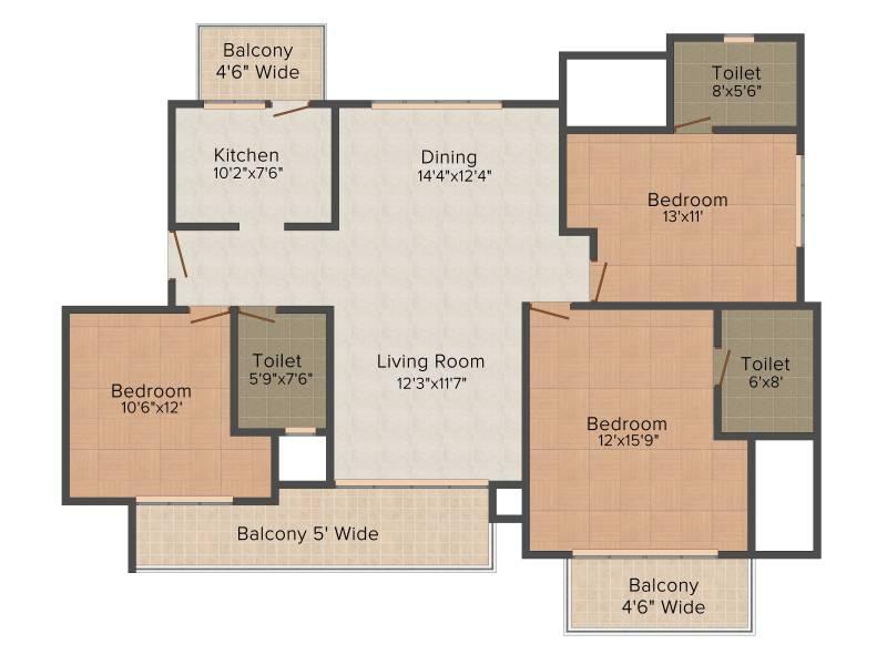 Omaxe Royal Residency (3BHK+3T (1,800 sq ft) 1800 sq ft)