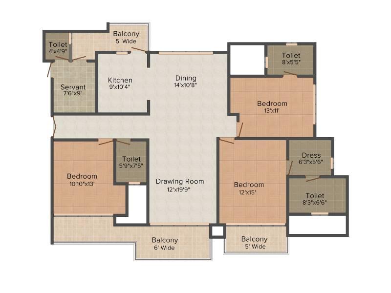 Omaxe Royal Residency (3BHK+4T (2,200 sq ft) + Servant Room 2200 sq ft)