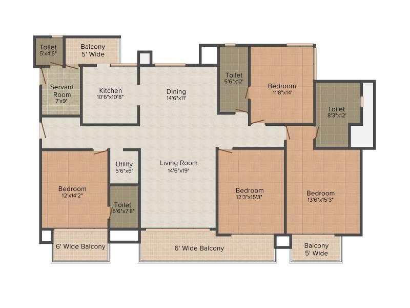 Omaxe Royal Residency (4BHK+4T (2,700 sq ft) + Servant Room 2700 sq ft)