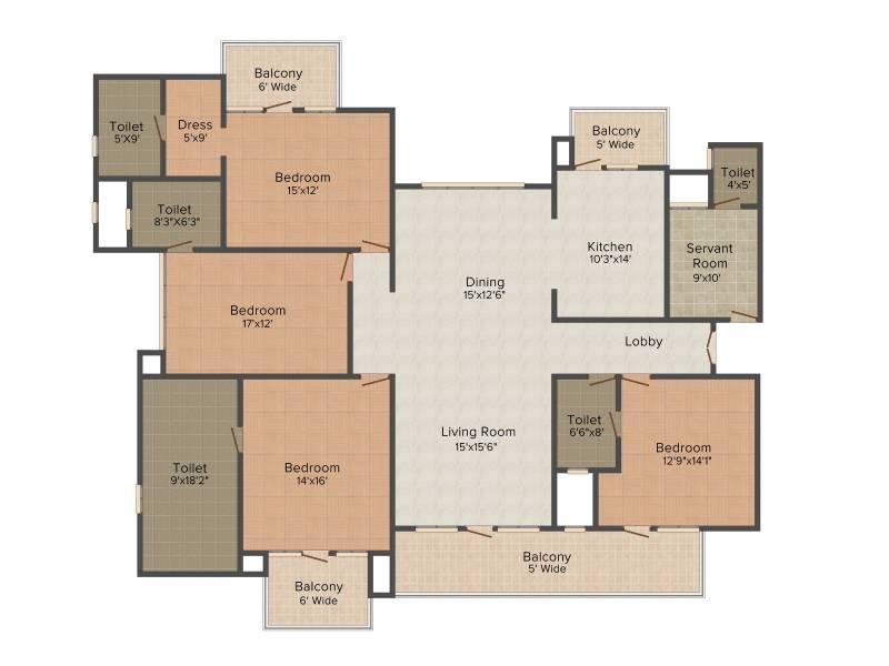 Omaxe Royal Residency (4BHK+5T (3,200 sq ft) + Servant Room 3200 sq ft)