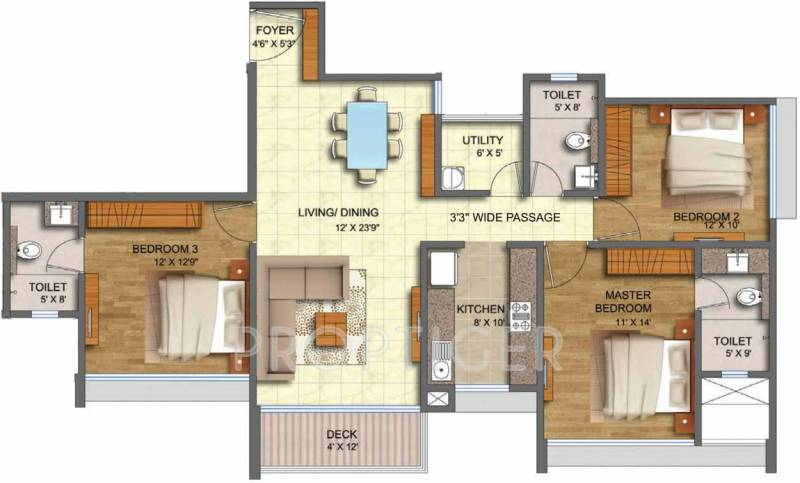 3 bhk house plan in 1800 sq ft for 1800 sq ft floor plans