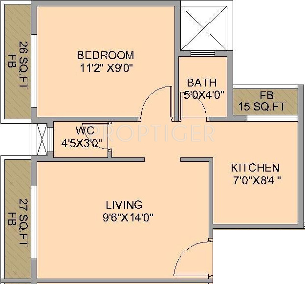 640 Sq Ft 1 Bhk 1t Apartment For Sale In Satyam Developers